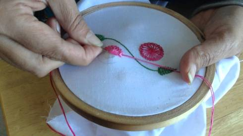 Embroidery may be handmade f7b52a50d553